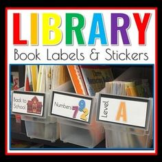 classroom labels for library - printable pack