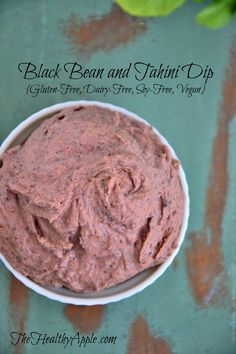 Black Bean and Tahini Dip {Gluten-Free, Dairy-Free, Soy-Free, Vegan} #glutenfree