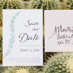 Wedding stationery. Save the date kaart