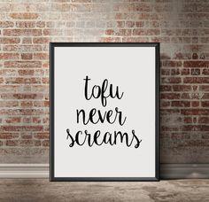 Vegan Affiche de motivation Citation végétarienne imprimable Art Typographie Art imprimable Wall Art INSTANT TÉLÉCHARGER cadeau ART végan