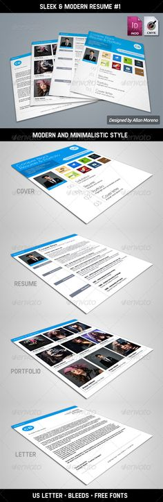 Clean One-Page Resume #GraphicRiver Clean One-Page Resume CV A - one page resume