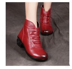 5044cc2faa7aea Click to Buy    Autumn winter single boots Shoes Genuine Leather Women Boots