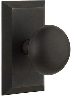 New York Rosette Door Set with Classic Round Knobs | House of Antique Hardware