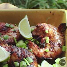 Recipe of the Day: Bobby's Ginger-Soy-Lime Marinated Shrimp  Get your blender ready for Bobby's quick and easy Asian-style marinade; you'll want to cover your shrimp in it again and again this grilling season. The marinade is filled with fresh ginger — a sweet yet spicy flavor that simply can't be subbed, Bobby says — and quick to make.