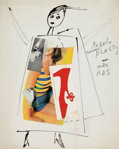 Paper doll - Andy Warhol style.