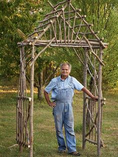 Rustic furniture made from twigs and logs has been popular for decades. The style still thrives for its resourcefulness and natural look. We asked Bim Willow of Willow Works in Grand Junction, Michigan, to demonstrate how to make a bentwood arbor. This simple arbor design can be easily personalized for your garden. After learning these simple twig-building techniques, you'll likely want to prune more often, just so you can make trellises, planters, and more.