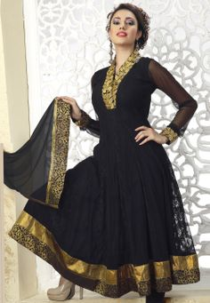 #Black Net #Churidar #Kameez @ $135.42