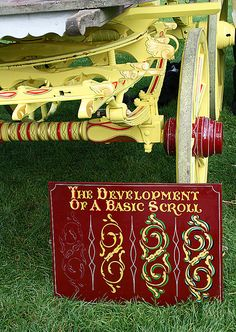 Development of a scroll. Gypsy Caravan Artist  - 2 by judibluemed, via Flickr