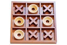 Tic-tac-toe Board Game, Wood