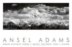Mt. McKinley, nuvole di Ansel Adams