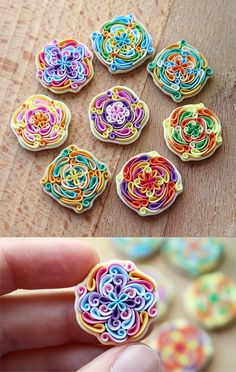 Set of 8 tiles Oriental ornament Polymer clay magnets Multicolor art tale Square Magnets Bohemian decor You are in the right place about Polymer Clay Crafts for beginners Here we offer you the most be Polymer Clay Magnet, Clay Magnets, Polymer Clay Projects, Polymer Clay Beads, Handmade Polymer Clay, Polymer Clay Embroidery, 3d Quilling, Kanzashi, Clay Design
