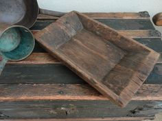 Early wood trencher bowl.