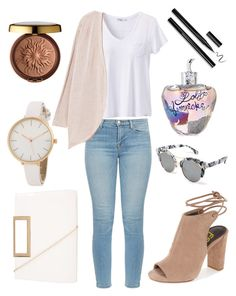 """Cutie With A Cardigan"" by kyra-leee on Polyvore featuring prAna, J Brand, MANGO, New Look, Eloquii, Lolita Lempicka and Physicians Formula"