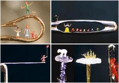 """The pinnacle of handmade miniatures would have to be sculptures that are smaller than the eye of a needle. The hands down master of the art currently is Willard Wigan MBE. An artist who started his career at only 5 years old when he decided to start building homes for ants, he has continued to impress the world with his micro creations, the artist is often referred to as the """"Eighth Wonder of the World"""". Wigan works primarily through the night, as even traffic noise from outside can destroy…"""