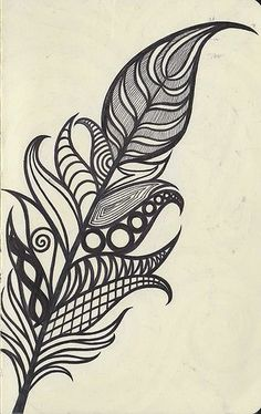 Very botanical for a feather, which is right up my alley...I also see wood grain and infinity symbol. Love the incorporation =)