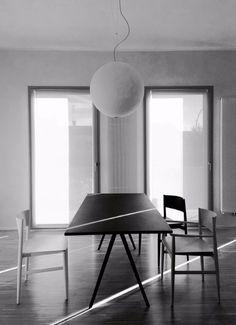 Black Table and Neve chair Porro  Ghiroldidesign