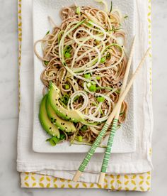 IMG 0042 crop Guest Post: Cold Cucumber Soba Noodles by Jeanine from Love & Lemons - yum! Ii didn't use any of the sesame oil.and I loved it! Vegan Vegetarian, Vegetarian Recipes, Cooking Recipes, Healthy Recipes, Healthy Food, Cooking Food, Cooking Tips, Easy Recipes, Dinner Recipes