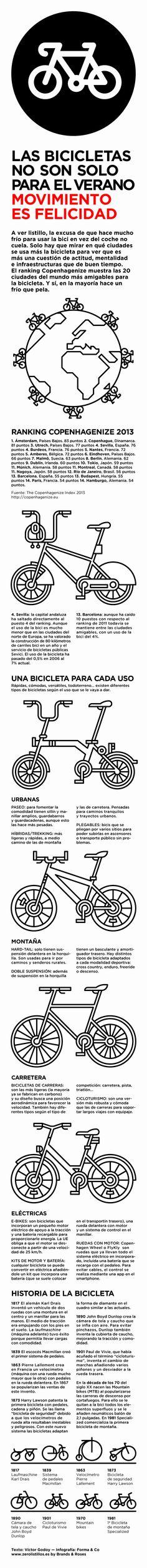Las #bicicletas no son solo para el verano. #Infografía #ciclismo #movilidad