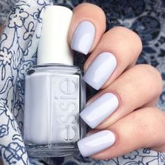 Light blue grey nail polish #nails #nail