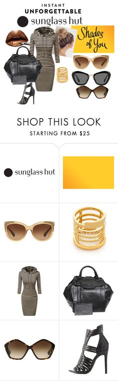 """""""shades of you: sunglass hut contest entry"""" by victoria-rowan ❤ liked on Polyvore featuring Coach, Madewell, Balenciaga, Miu Miu, Charlotte Russe and shades"""