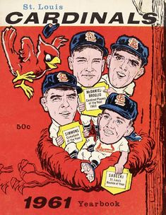 1961 ST. LOUIS CARDINALS print - Vintage Baseball Poster