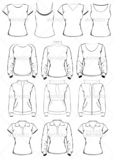 Collection of Women Clothes Outline Templates  #GraphicRiver         Collection of women clothes outline templates. Vector illustration. You can be scaled this objects to any size without loss of resolution. The vector file is layered with relevant layer names for easy selection and editing. Eps. and Ai. files are fully editable.     Created: 1March13 GraphicsFilesIncluded: JPGImage #VectorEPS #AIIllustrator Layered: Yes MinimumAdobeCSVersion: CS Tags: clothes #collar #collection #fem