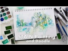 (3782) Watercolor Stain Doodle Beginners Technique ♡ Maremi's Small Art ♡ - YouTube