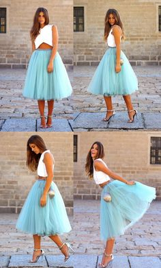 Two Piece Homecoming Dresses,V-Neck Homecoming Dresses,Mid-Calf Homecoming Dresses,Blue Homecoming Dresses,Tulle Homecoming Dresses,Homecoming Dresses 2017,Dresses For Teens