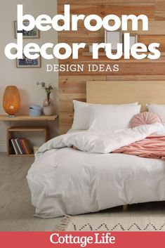 Follow these design ideas for the ultimate bedroom makeover. #bedroomideas #design #homedecor #bedroomdesign #CottageLife Cottage In The Woods, Lake Cottage, Cottage Homes, Cottage Design, Cottage Style, Diy Design, Design Ideas, Bedroom Ideas, Bedroom Decor