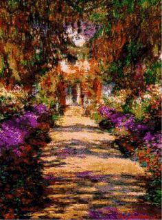 Monet - Il viale del giardino