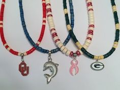 NFL - MLB - NCAA BEADED NECKLACES