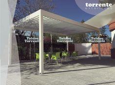 Pérgola aluminio bioclimática de lamas orientables Torrente exteriores