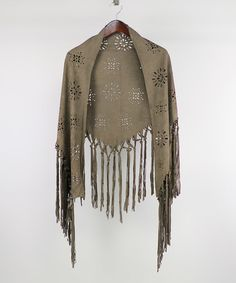 Another great find on #zulily! Khaki Floral Knot-Fringe Ruana #zulilyfinds