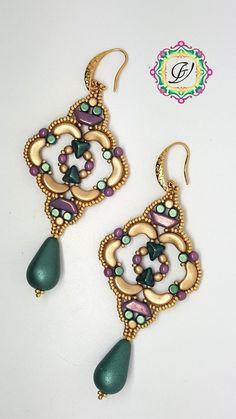 48e5cf6f15e9 Shakti Earrings TUTORIAL with Arcos Minos Super Kheops Tinos par Puca