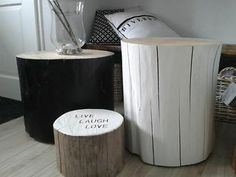 Tree trunk solutions for warm and modern look for your home 2 Trunk Furniture, Recycled Furniture, Living Furniture, Diy Furniture, Living Room Accessories, Home Accessories, Diy Pallet Projects, Wood Projects, Tree Trunk Table