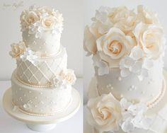 Elegant Wedding Cakes by Sugar Ruffles