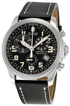 Victorinox Swiss Army Men's 241314 Infantry Vintage Chronograph Black Dial Watch : 44mm (Great to look at. Some Amazon buyers reported quality issues. Too bad.)