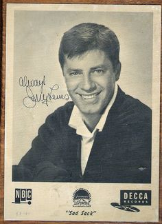 JERRY LEWIS    Jerry Lewis, 1954