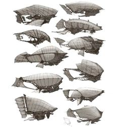 Present: Steampunk Concept Art in games (Guild Wars (Arenanet, 2010 - Fantasy Places, Fantasy World, Fantasy Art, Steampunk Ship, Steampunk Design, Alien Concept Art, Spaceship Design, Futuristic Art, Guild Wars