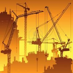 Tower Cranes vector image Repinned via Dale Hinds