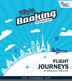 We've made it easy for you to book your dream trip. Book flights stress-free, Quick, easy & convenient: http://fastticket.in/travel/flight-booking #Flights #Bookings #Travel #Journey