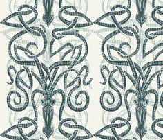 Giant Squid- Pair o' Kraken fabric by wren_leyland on Spoonflower - custom fabric