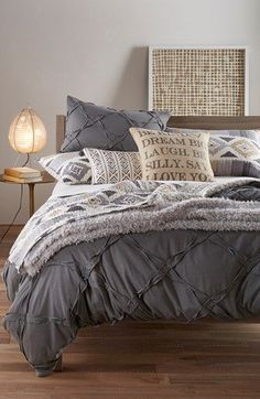 Getting out of bed, as if the struggle wasn't already real, this Nordstrom at Home 'Trellis' duvet cover is everything! – Home Decor Ideas – Interior design tips Dream Bedroom, Home Bedroom, Bedroom Furniture, Master Bedroom, Bedroom Decor, Bedroom Ideas, Bedroom Inspiration, Bedroom Colors, Master Suite
