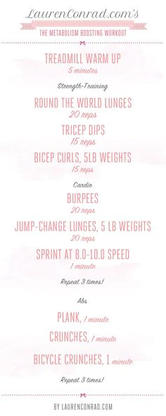 Shape Up: The Metabolism Boosting Workout