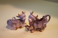 Your place to buy and sell all things handmade Purple Cow, Cow Creamer, Sugar Bowls, Cows, Kitsch, Tea Pots, Milk, Animal, Vintage