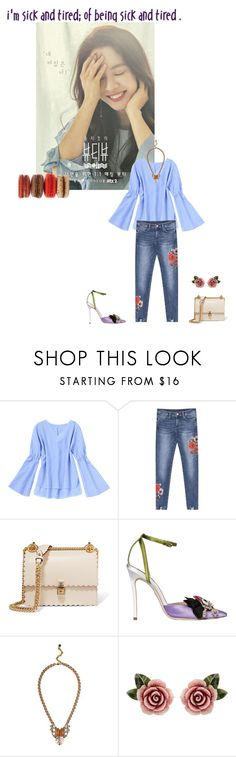 """""""Untitled #2353"""" by angelworlds21 ❤ liked on Polyvore featuring Fendi, Dsquared2, Nocturne and Dolce&Gabbana"""