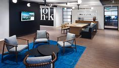 HOK has moved its Toronto employees into a space designed to be a model of efficiency, while presenting an inviting face.