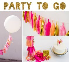Party to Go, Tissue Tassel Decor Birthday Package