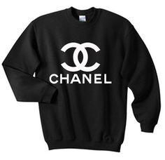 Chanel shirt ras du cou en noir rouge et gris pour les par IbraMark, $23.99