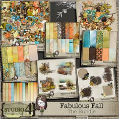 Digital Scrapbooking Studio Fabulous Fall - The Bundle - Packed and bundled up - FABULOUS FALL - The Bundle is sure to bring out the creativity in you! Colours that blend together and pop all at the same time, outdoor elements, some with a hint of watercolour to them, and a huge array of papers and elements, are sure
